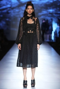 black-lace-floral-applique-dress