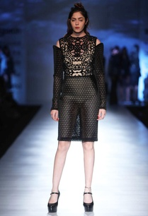 black-cutwork-short-dress