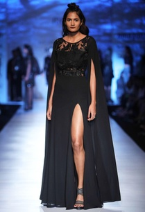 black-fit-and-flare-gown