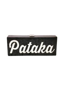 black-silver-pataka-monogrammed-clutch