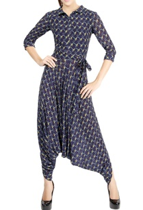 navy-blue-motif-print-jumpsuit