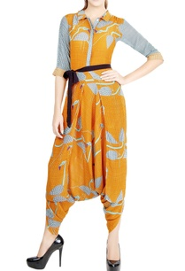 orange-navy-blue-checkered-jumpsuit