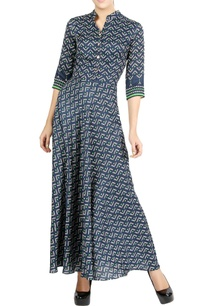 navy-blue-printed-maxi-dress