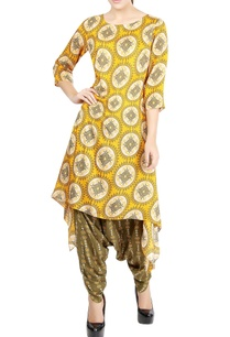 mustard-yellow-printed-kurta-olive-green-patiala