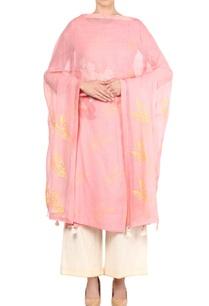 pastel-pink-block-print-kurta-set