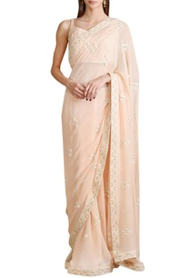peach-floral-sari-with-blouse