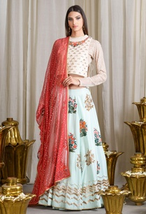 beige-mint-blue-embroidered-lehenga-set
