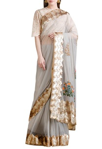 sky-grey-sari-with-peach-blouse