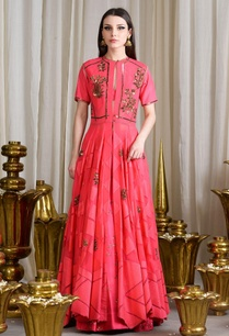 coral-pink-embellished-lehenga-set-with-jacket