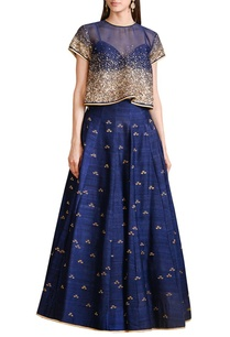 navy-blue-embellished-top-lehenga