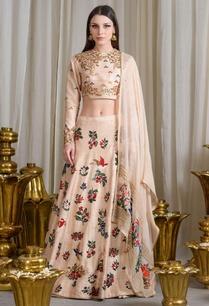 beige-embroidered-lehenga-set