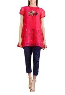 hot-pink-organza-embroidered-tunic