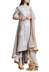 sky-grey-kalidar-kurta-set