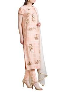 peach-embroidered-kurta-set