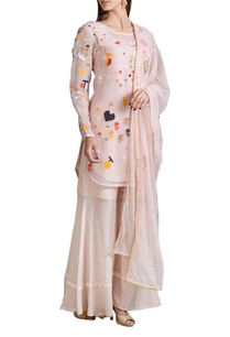 pale-pink-applique-kurta-with-sharara-dupatta