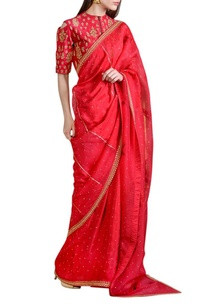 raspberry-red-embellished-sari-with-blouse