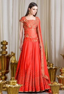orange-embellished-lehenga-set