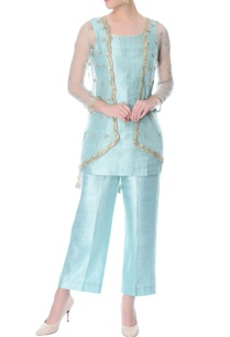 aqua-blue-silk-co-ord-set-with-embellished-jacket