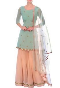 pastel-blue-kurta-powder-pink-sharara-with-dupatta