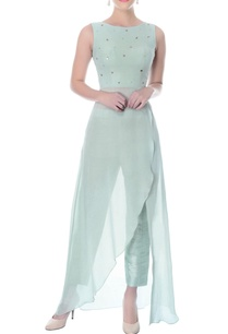 pastel-blue-wrap-kurta-with-raw-silk-pants