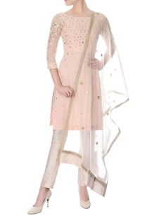 pastel-pink-mirror-work-kurta-with-pants-dupatta