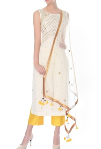 ivory-mirror-work-kurta-with-culottes-dupatta