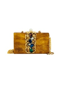 brown-wood-clutch-with-glass-molten-rings
