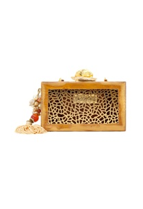 gold-ivory-wooden-clutch-with-lasercut-design