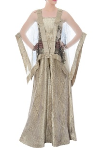 cream-tube-jumpsuit-ivory-embellished-cape