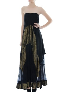black-antique-gold-tube-dress