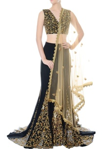 black-hand-embroidered-lehenga-set
