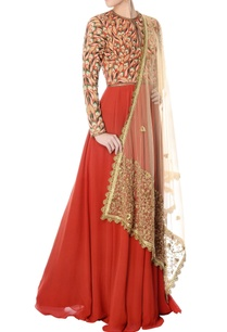 rust-hand-embroidered-anarkali-with-dupatta