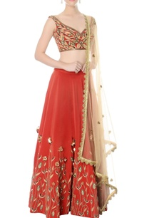 rust-hand-embroidered-lehenga-set