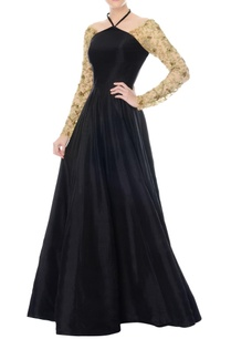 black-cross-neck-anarkali