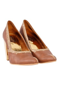 brown-gold-embroidered-block-heels