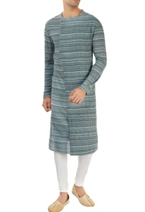 blue-striped-kurta-with-pleats