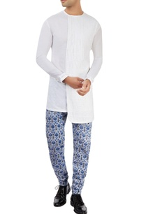 white-kurta-with-printed-pants