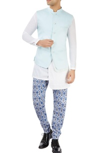pastel-blue-nehru-jacket-with-printed-layer