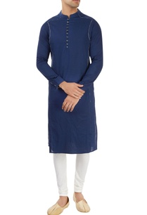 navy-blue-kurta-with-printed-piping