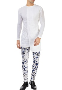 white-pants-with-blue-grey-leaf-prints
