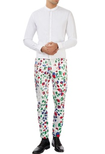 white-pants-with-multi-colored-floral-prints