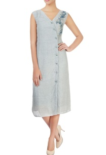 grey-dress-with-embroidery