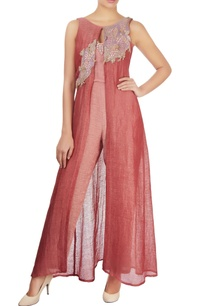 brick-red-jumpsuit-with-threadwork