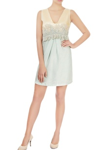 lemon-yellow-mint-green-dress-with-embroidery