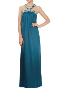teal-blue-maxi-dress-with-embroidery