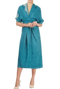 teal-blue-dress-with-embroidery
