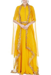 yellow-embroidered-jacket-lehenga