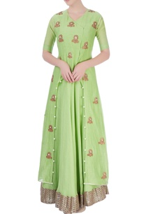 pista-green-maxi-dress-with-jacket