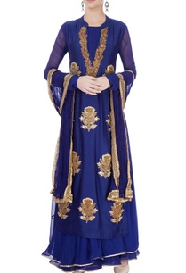 blue-maxi-with-embroidered-kurti