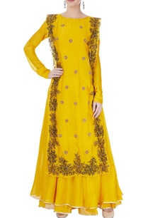 yellow-maxi-with-embroidered-over-layer